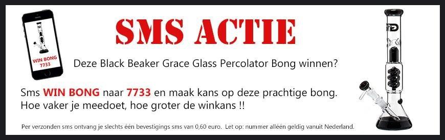Win een Grace Glass bong SMS actie bij waterpijp-bong.nl