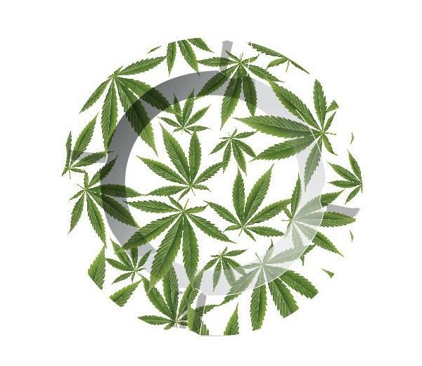 Cannabis Leaves Metalen Asbak - Waterpijp-bong.nl