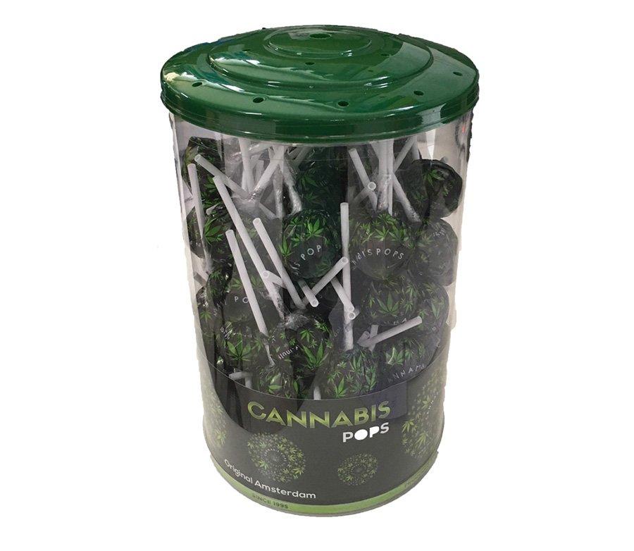 Cannabis Lolli Pops With Leaf Wrap 18gr - Waterpijp-bong.nl