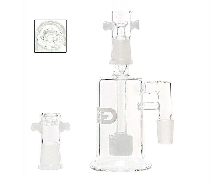 Grace Glass Crystal Cube Precooler White - Waterpijp-bong.nl