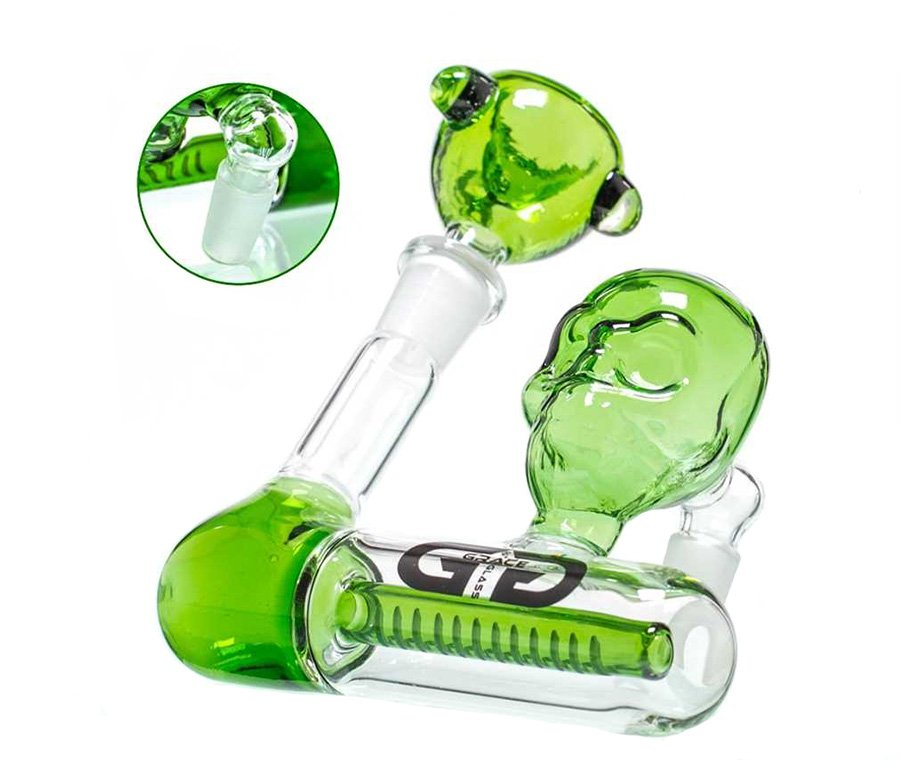 Green Skull GG Precooler 1 x 12 Slit Diffuser - Waterpijp-bong.nl