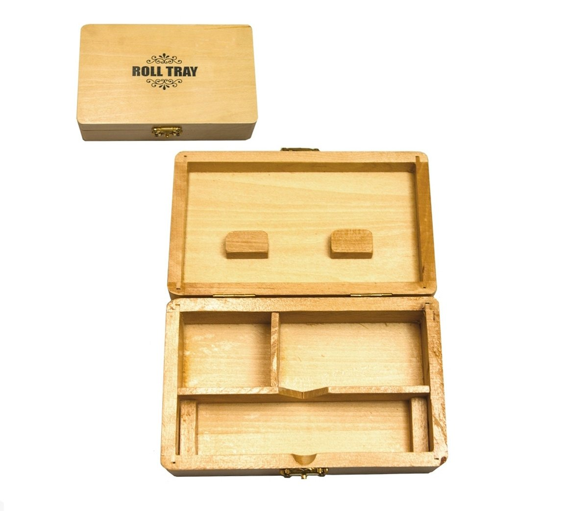 Medium Houten Roll & Stash Box - 15 x 10 cm - Waterpijp-bong.nl