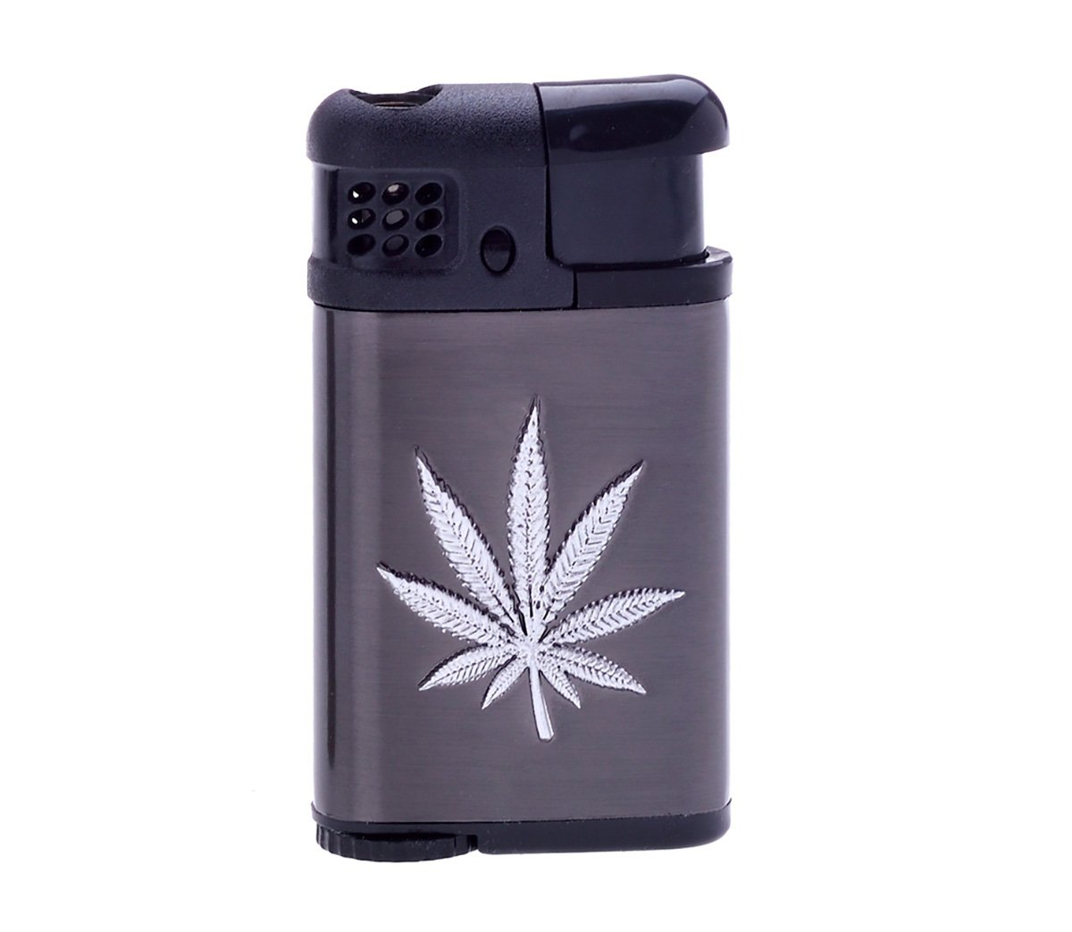Silver Weed Green Torch Lighter