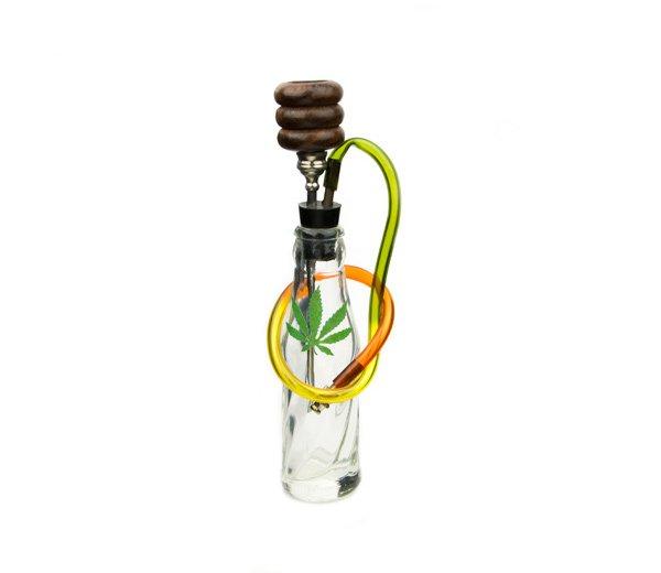 Rasta Bottle Glass Converter Bong - www.waterpijp-bong.nl