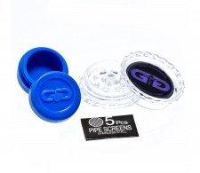 Blue Beaker GG Bong with Luxury leather Case