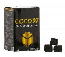 COCO97 Shisha Charcoal Cube 1Kg 64 pcs - Waterpijp-bong.nl