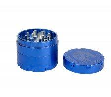 D-SMOKE HQ 4-Parts Grinder Blue incl. Velvet Bag - Waterpijp-bong.nl