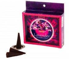 Incense Cones Lavender (10 stuks) - Waterpijp-bong.nl