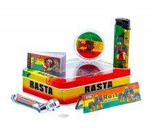 Rasta Color Pipe Jonko Smoke Giftset