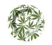 Cannabis Leaves Metalen Asbak