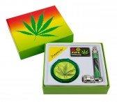 Dreamliner Rasta Leaf Pipe Grinder Giftset
