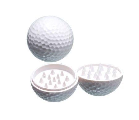 Golfbal Grinder 2 parts wit